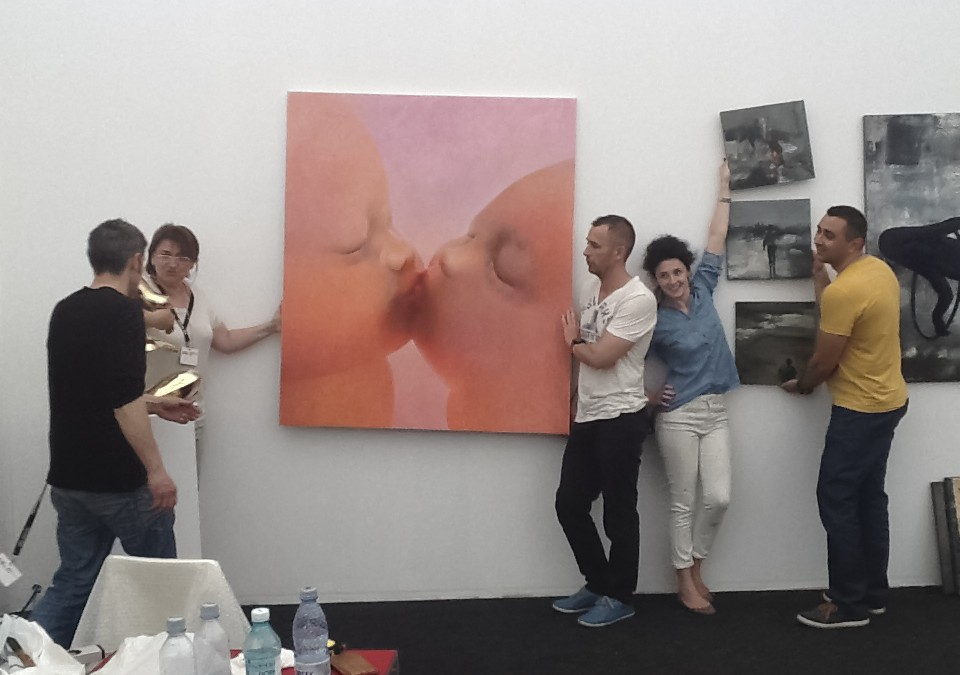 Laura Covaci & AnnArt at Art Safari 2014. Bucharest, Romania