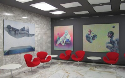 Laura Covaci's Paintings at UTI Business Center. Bucharest, Romania