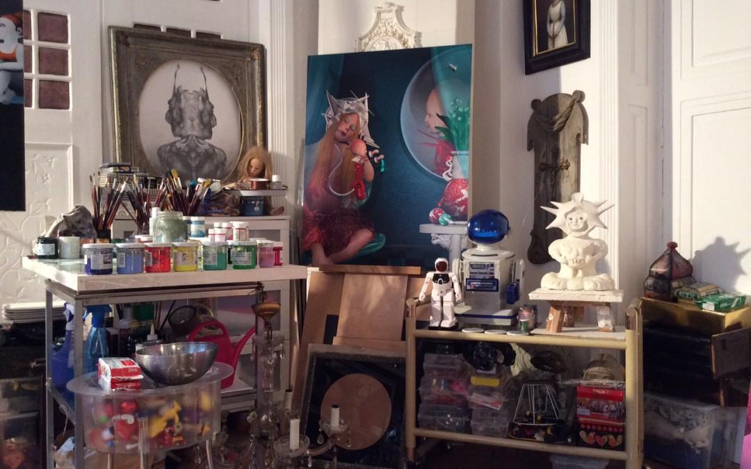 Laura Covaci. Artist's studio. Bucharest, Romania